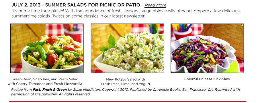 Summer Salads for Picnic or Patio