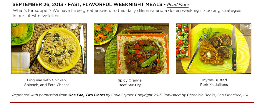 Fast, Flavorful Weeknight Meals